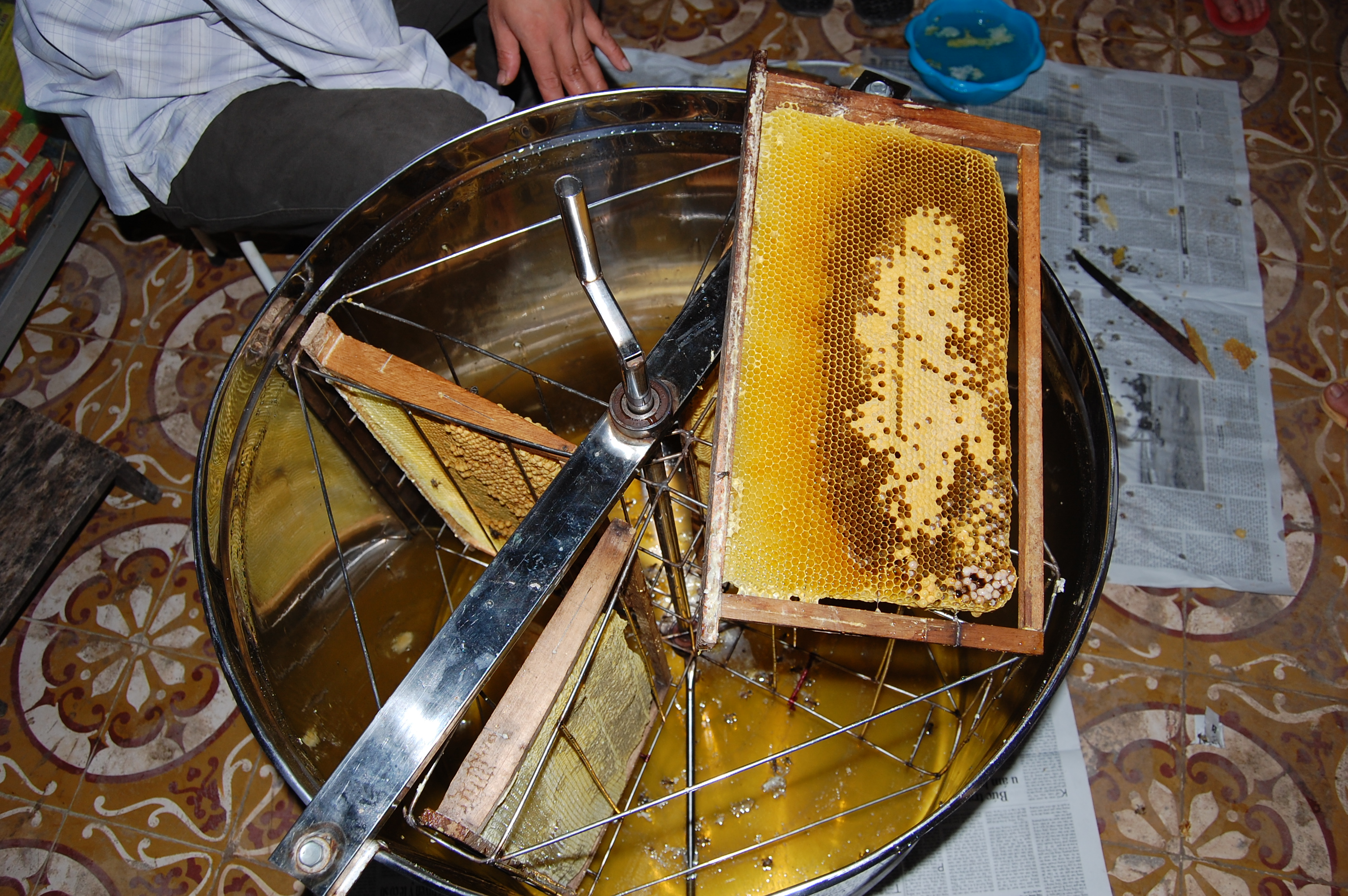 To extract some honey! Which is really sweet.