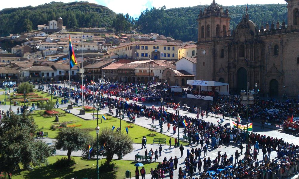 Big festival in cuzco