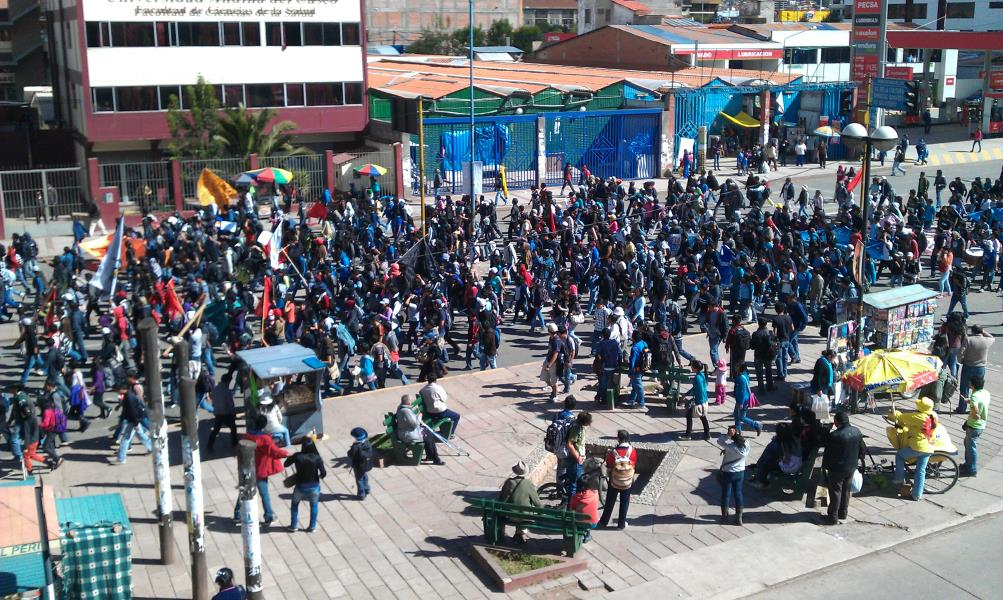 protests in cuzco