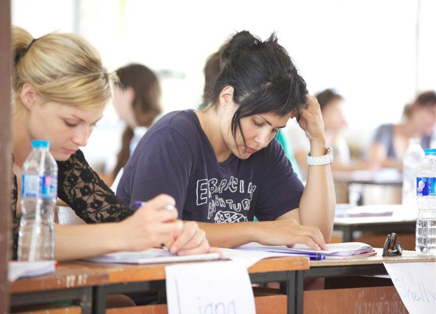 TEFL course students studying