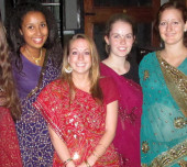 Greenheart Travel teen volunteers in saris