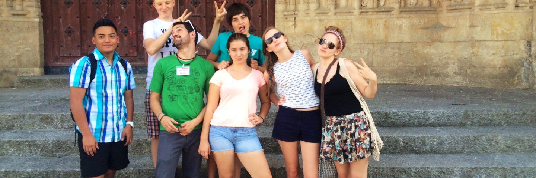 Saying Goodbye to Friends in Salamanca