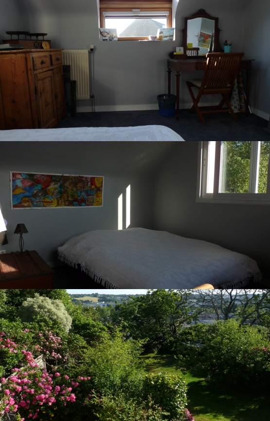 Quimper bedroom & view