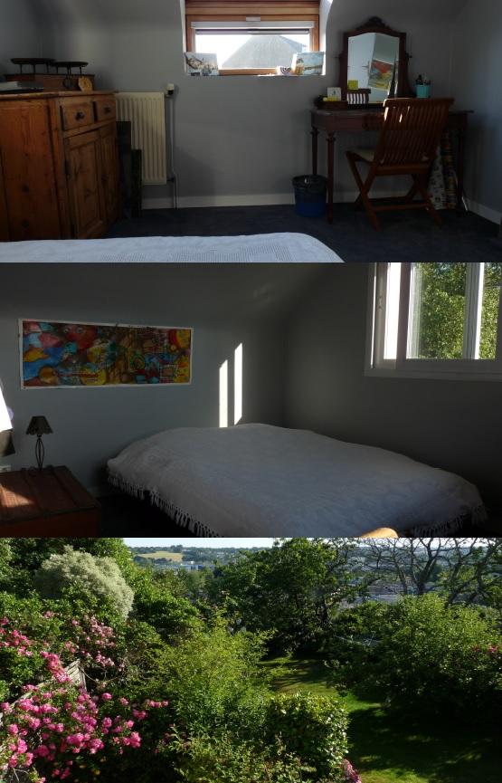 Quimper bedroom & view