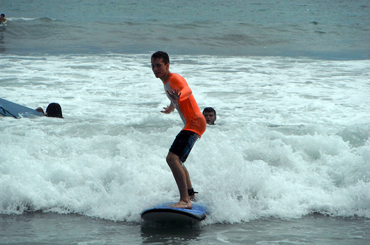 Me surfing the waves.
