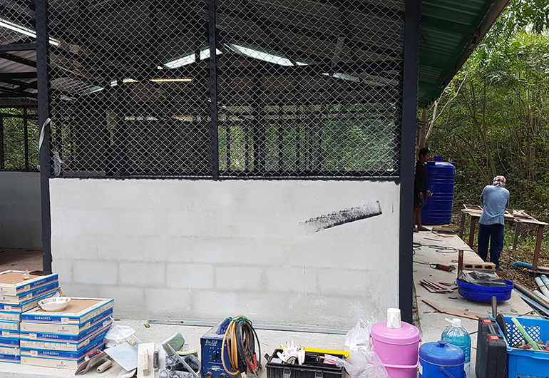 Materials used for the construction of a new kennel in Thailand.