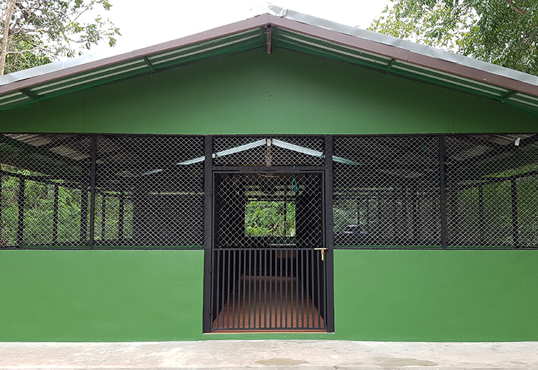 A new dog kennel in Thailand.