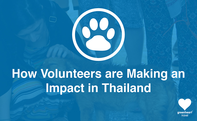 How volunteers are making an impact in Thailand title image.