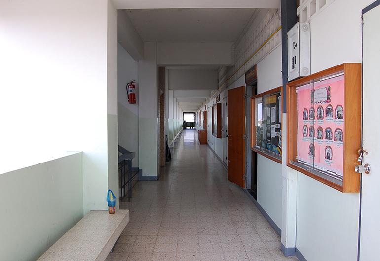 A hallway of a school in Thailand.