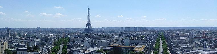 Paris view from the Arc De Triomphe.
