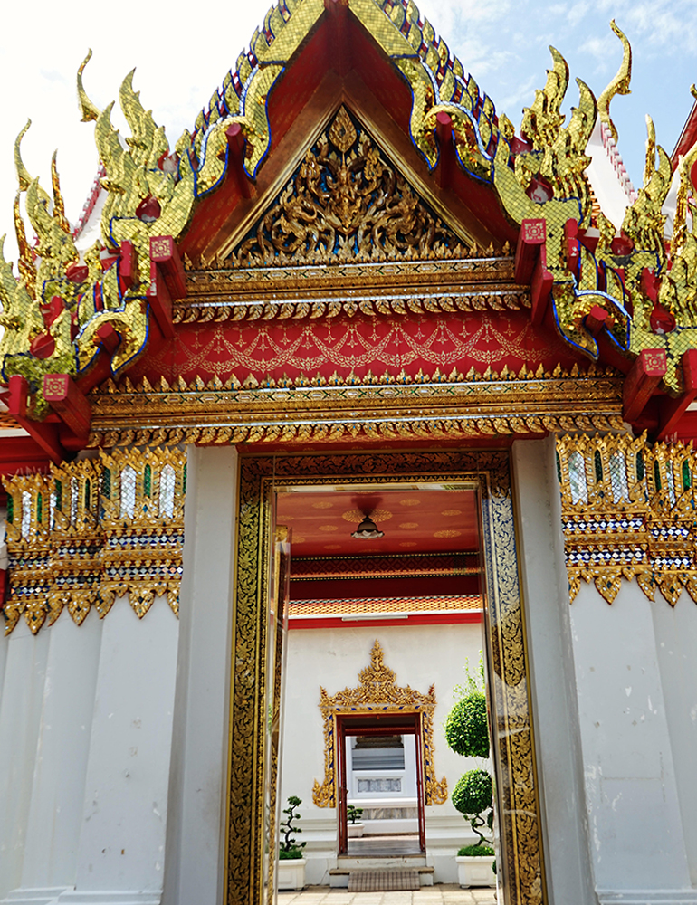 An ornate temple in Thailand.