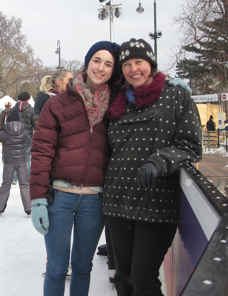 A Greenheart Traveler ice skating in Germany.